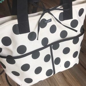 KATE SPADE LARGE CANVAS TOTE VGC!